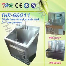 Fregar el fregadero del acero inoxidable para una persona (THR-SS011)