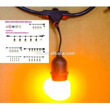 SL-104 10FT 10 lumière Claire E17 base PS50 Edison Style Noël Lumière
