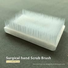 Cepillo de mano quirúrgico con esponja limpiadora de uñas