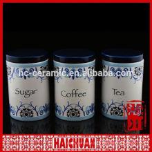 bamboo lid daily ceramic storage spice jar