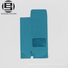 Изготовленный на заказ складной синий крафт-бумага мешок с окном