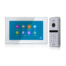 2019 New Arrival FHD Glass Touch Screen Video Door Phone Intercom System with RFID Card Function For Villa