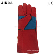 Cuero de vaca guantes de soldadura industrial (l010)