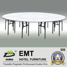 Restaurante grande mesa de jantar com moldura forte dobrável (EMT-FT609)