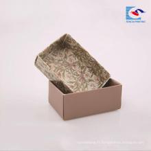 Savon d'impression de couleur kraft carton ondulé boîte de papier bar boîtes d'emballage de savon