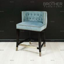 Chinois fournisseur velours tissu bar tabouret chaise pour bar