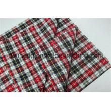 Fios de algodão 100% tecidos tingidos tecido para camisas