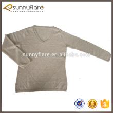 tricotant des chandails de Cachemire de dames de modèles simples de diamant, pull de dame tricoté
