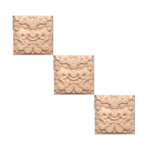 Square shape  european lion modelling carved wood moulding