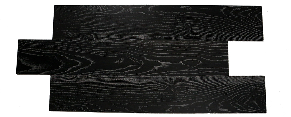 White texture carbon black European oak solid wood composite SPC flooring