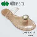 Elegant Lady Fancy Crystal Pvc Summer Jelly Slippers