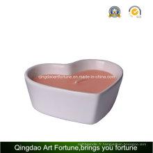 Bougie en céramique en porcelaine en forme de coeur pour le décor de mariage