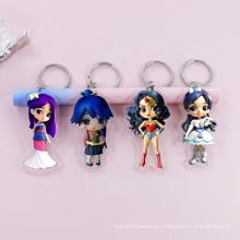 custom acrylic marvel Holographic keychain souvenirs one piece gift acrylic keychain