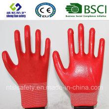 13G Polyester Shell mit Nitril beschichteten Arbeitshandschuhen (SL-N112)