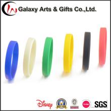 Pulseira de Silicone de forma oval personalizado borracha barato pulseiras para eventos