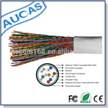 Manufacturer telecom feeder cable cat3 indoor copper cable in wooden reel rolled low price