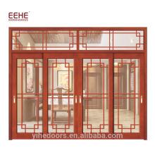 Landhaus-Balkon-hölzerne Design-Tür-Glasholztür