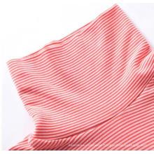 Ladies Seamless High Neck Striped Long Sleeve Shirt