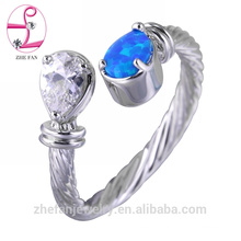 Saudi arabia opal wedding ring wholesale price in thailand 925 sterling silver