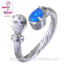 Arábia Saudita opala anel de casamento preço de atacado na tailândia 925 sterling silver