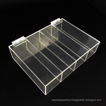 Factory Wholesale 5 Compartments Clear Acrylic Storage Box with Lid