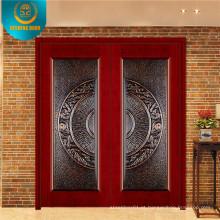 Porta de madeira popular da segurança da entrada do projeto para o mercado de Irã