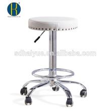 Euro design branco PU bar mobiliário para venda com base de cinco estrelas