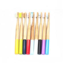 Charcoal Natural Bamboo Wood Handle Toothbrush