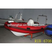 Barco inflável de fibra de vidro rígida de costela 470B