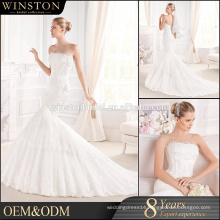 New arrival product wholesale Beautiful Fashion backless mermaid wedding dress
