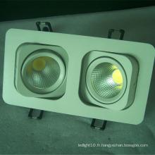 Pièces de downlight led carrées de qualité supérieure