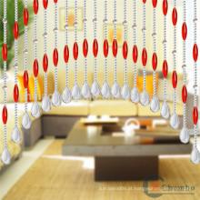 China fornecedor de banheiro decorativo cortinas de chuveiro com contas