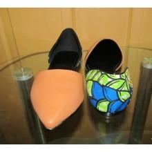 Nuevos zapatos impresos africanos de la manera de las telas (HCY02-1801)