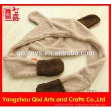 Pañuelo de peluche en forma de chal bufanda linda bufanda anial guantes y sombrero para niñas