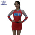 Custom Metallic Stoff Jugend Cheerleader Kleid