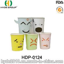 Single de parede 7 oz de copo de papel criativo com impressão personalizada (HDP-0124)
