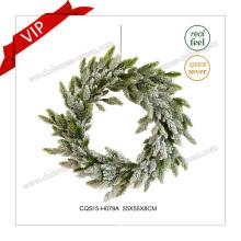 22 Inch ODM & OEM Plastic Artificial Christmas Wreath Decoration