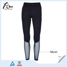 Pantalon de compression personnalisé Lady Sexy Mesh Sports Wear