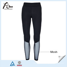 Custom Compression Pants Lady Sexy Mesh Sports Wear