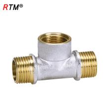 J17 4 12 2 высокое качество тройник штуцера трубы 3-полосная медной трубы фитинг ниппель уменьшая соединение