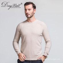 Chandail d'hiver de la dernière conception de Pure Color à manches longues pour les hommes vient Fabricant