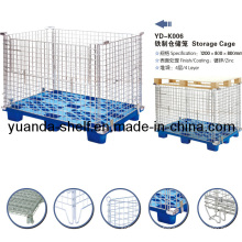 Folding Storage Metal Wire Mesh Pallet Cage for Warehouse