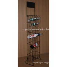 Metal Floor Drinks Display Stand (PHY1059F)