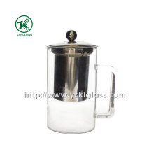 Glass Teapot with Stainless Steel (8*11*16)