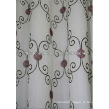 white embroidered cafe curtains fabric
