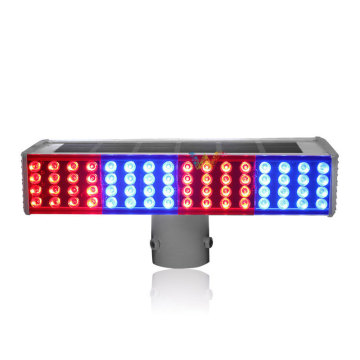 Integrated solar flash LED traffic signal strobe light