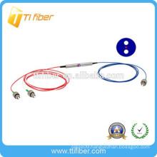 1*2 FC APC singlemode PM optic fiber splitter