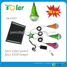 cellule solaire dirigée par maison d'urgence lighting(JR-SL988B)