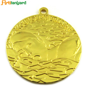 Custom Soft Enamel Triathlon Swimming Sports Medals