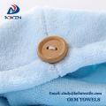 Toallas de turbante de toalla de secado de pelo de microfibra para envolver